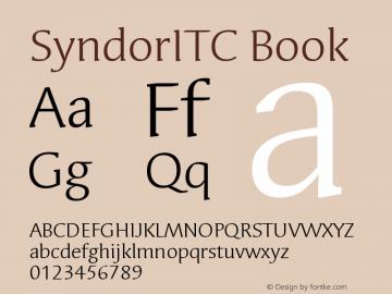 Syndor ITC Book Version 005.000图片样张