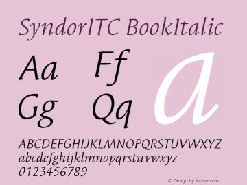 Syndor ITC Book Italic Version 005.000图片样张