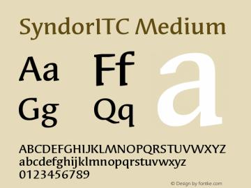 Syndor ITC Medium Version 005.000图片样张