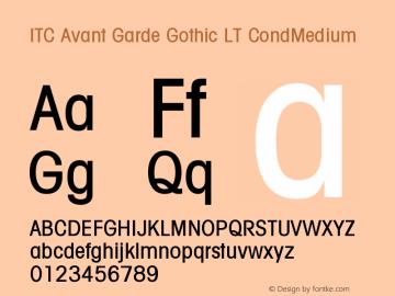 ITC Avant Garde Gothic LT Condensed Medium Version 006.000图片样张
