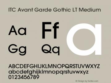ITC Avant Garde Gothic LT Medium Version 006.000 Font Sample