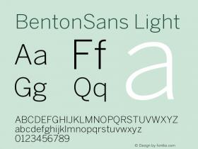 BentonSans-Light Version 001.000图片样张