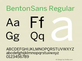BentonSans-Regular Version 001.000图片样张