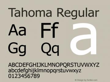 Tahoma Version 3.17图片样张