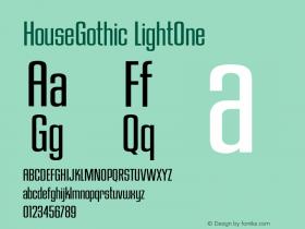HouseGothic-LightOne 001.000图片样张