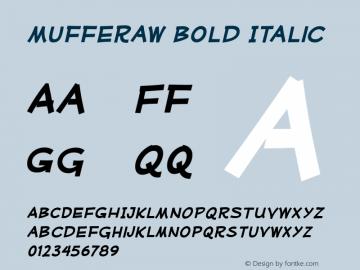 Mufferaw-BoldItalic Version 2.201 2004 Font Sample