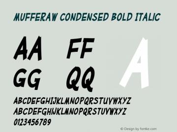 MufferawCd-BoldItalic OTF 3.000;PS 001.001;Core 1.0.29 Font Sample