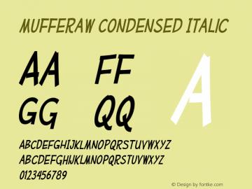 MufferawCd-Italic OTF 3.000;PS 001.001;Core 1.0.29 Font Sample