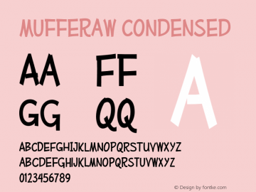 MufferawCd-Regular OTF 3.000;PS 001.001;Core 1.0.29 Font Sample
