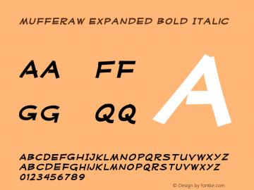 MufferawXp-BoldItalic OTF 3.000;PS 001.001;Core 1.0.29 Font Sample