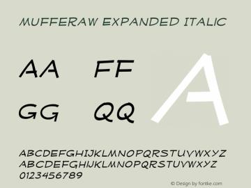 MufferawXp-Italic OTF 3.000;PS 001.001;Core 1.0.29 Font Sample
