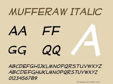MufferawRg-Italic OTF 3.000;PS 001.001;Core 1.0.29 Font Sample