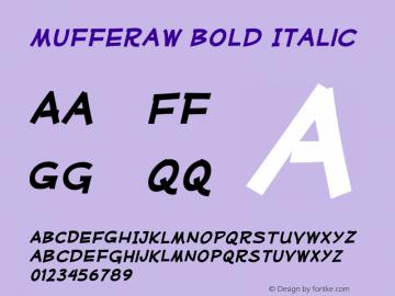 MufferawRg-BoldItalic OTF 3.000;PS 001.001;Core 1.0.29 Font Sample