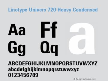 Linotype Univers 720 Heavy Condensed Version 1.31图片样张