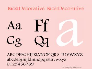 KacstDecorative 1图片样张