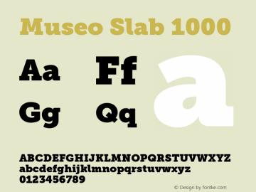 MuseoSlab-1000 Version 1.071图片样张