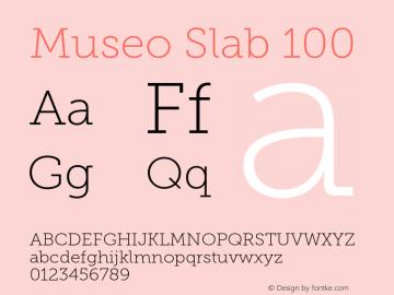 MuseoSlab-100 Version 1.071图片样张