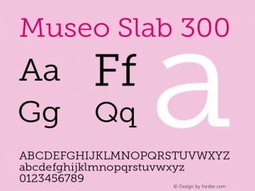 MuseoSlab-300 Version 1.000图片样张