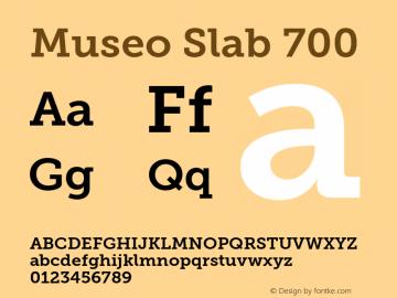 MuseoSlab-700 Version 1.000图片样张