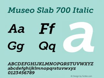 MuseoSlab-700Italic Version 1.000图片样张