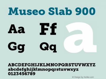 MuseoSlab-900 Version 1.000图片样张