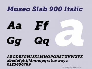 MuseoSlab-900Italic 1.000图片样张