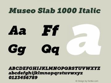 MuseoSlab-1000Italic Version 1.071图片样张