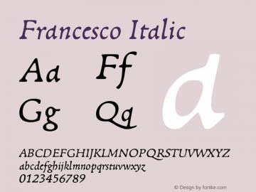 Francesco-Italic Version 1.001图片样张