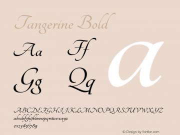 Tangerine Bold Version 1.3图片样张