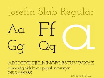 Josefin Slab Regular Version 1.001图片样张
