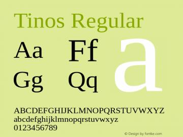 Tinos Regular Version 1.23 Font Sample