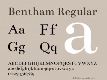 Bentham Regular Version 002.002图片样张