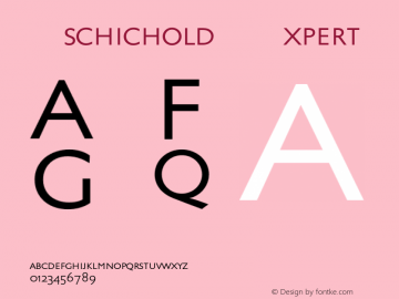 Tschichold-Expert 001.000图片样张