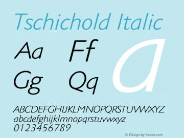 Tschichold-Italic 001.000图片样张