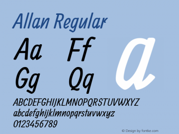 Allan Regular Version 1.002图片样张