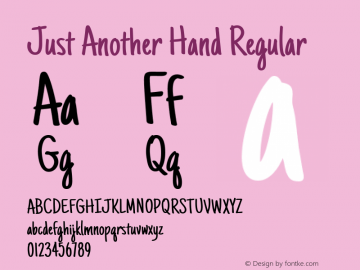 Just Another Hand Regular Version 1.001图片样张