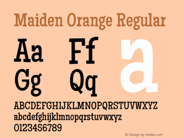 Maiden Orange Regular Version 1.001图片样张