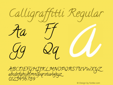 Calligraffitti Regular Version 1.002图片样张