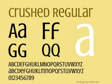 Crushed Regular Version 001.001图片样张