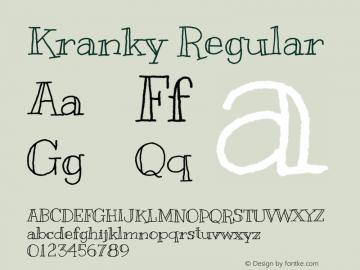Kranky Regular Version 1.001图片样张
