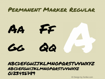 Permanent Marker Regular Version 1.001图片样张
