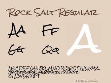 Rock Salt Regular Version 1.001图片样张