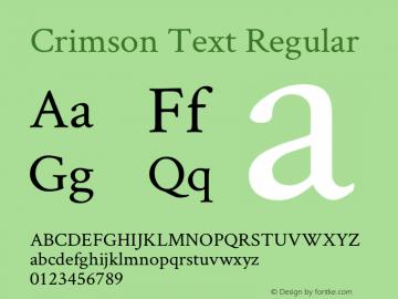 Crimson Text Regular Version 0.13图片样张