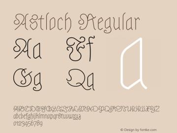 Astloch Regular Version 1.001图片样张