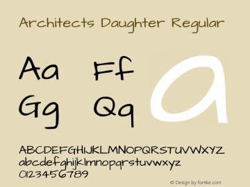 Architects Daughter Regular Version 1.003 2010图片样张