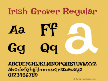 Irish Grover Regular Version 1.001图片样张