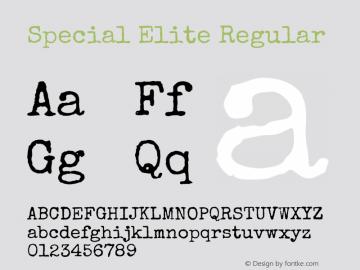 Special Elite Regular Version 1.001图片样张