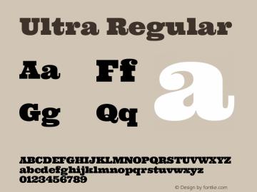 Ultra Regular Version 1.001图片样张