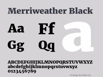 Merriweather Black Version 1.584; ttfautohint (v1.5) -l 6 -r 36 -G 0 -x 10 -H 350 -D latn -f cyrl -w