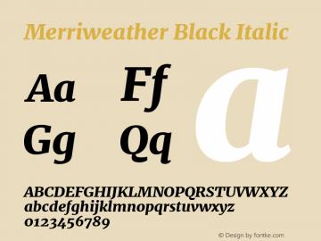 Merriweather Black Italic Version 1.584; ttfautohint (v1.5) -l 6 -r 36 -G 0 -x 10 -H 350 -D latn -f cyrl -w